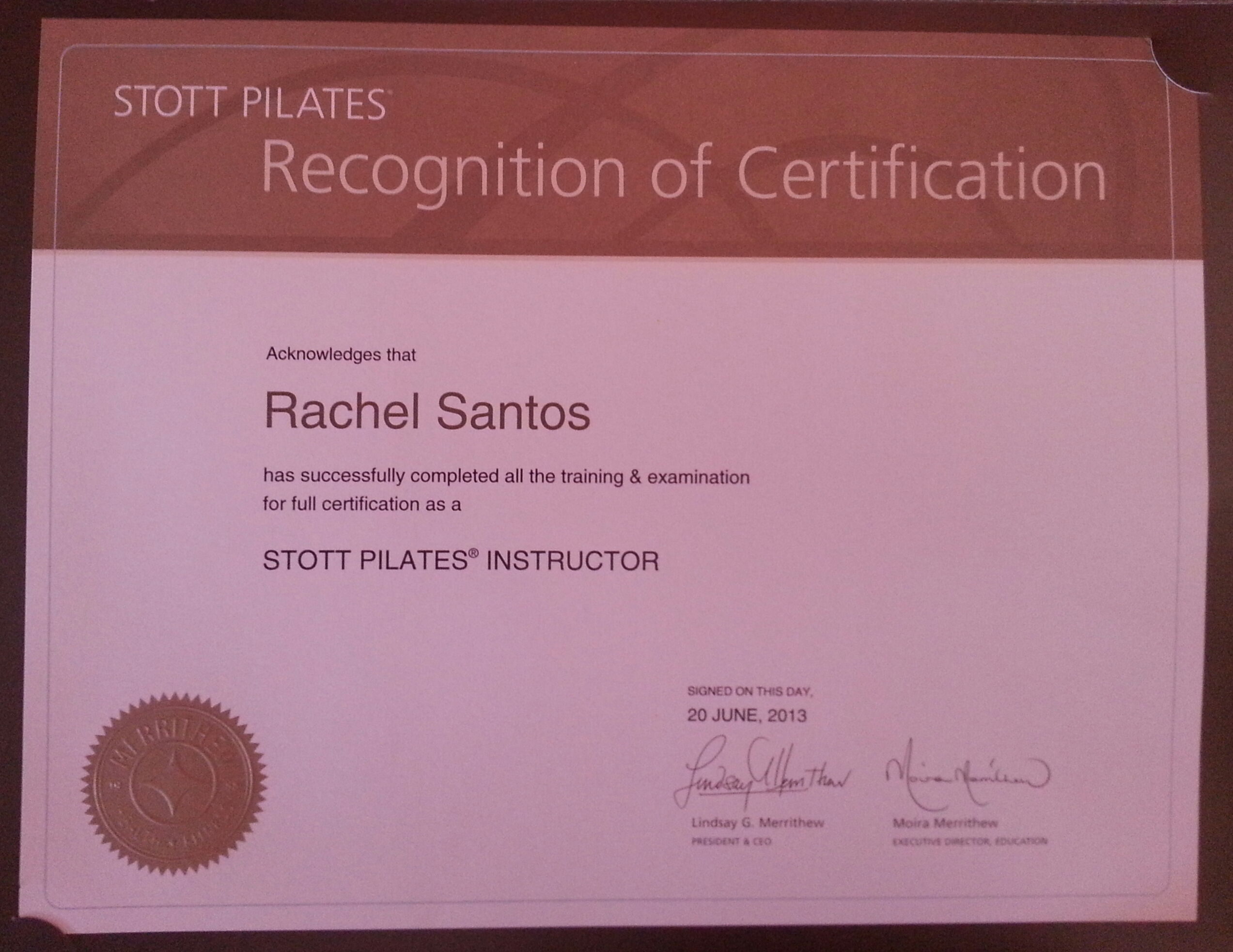 Certifications And Training Cadance Jazz Pilates