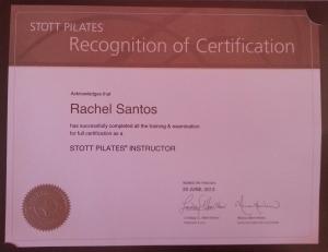Rachel Santos Full Certification Stott Pilates Instructor Montreal