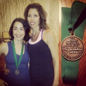 Kim Kraushar and me, IDEA World 2015, Inspiration Medal winner