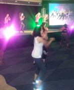 Trying Piloxing, led by founder Viveca Jensen, at the Welcome Reception.